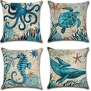 61OCxVEYOiL._SS300_ 100+ Nautical Pillows & Nautical Pillow Covers