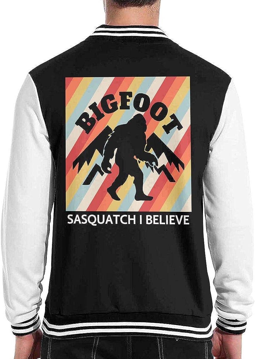 JJKKFG-H I Believe Sasquatch Bigfoot Retro Style Mens Style Baseball Uniform Jacket Sport Coat