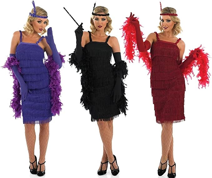 Onorevoli ARGENTO ANNI/'20 GATSBY anni 1920 20 Costume Vestito UK 8-30 Plus Size