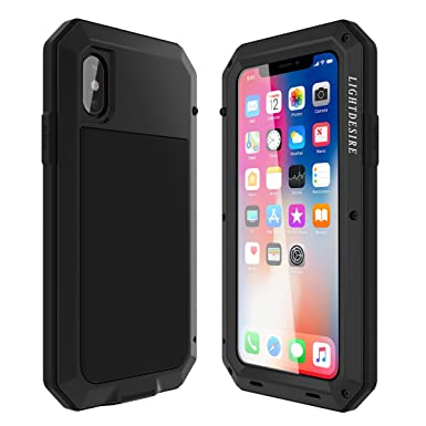 timeless design bc850 99d17 iPhone 7 8 Case, LIGHTDESIRE Shockproof Anti-Skid Water Resistant Metal  Aluminum Alloy Military Bumper Shell Cover Case for iPhone 7/8 - Black