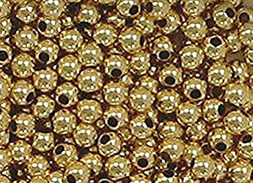 - 3mm Gold Filled Round Beads (Qty=50)
