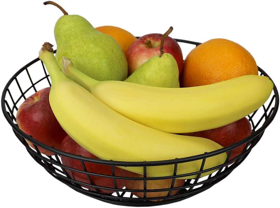 Home Basics, Black Grid Collection Large Capacity Fruit Bowl