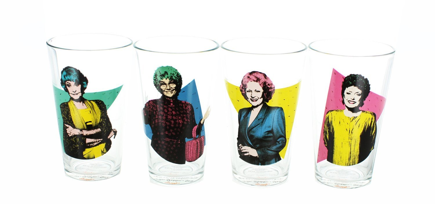 JUST FUNKY The Golden Girls 16oz Pint Glasses - Set of 4