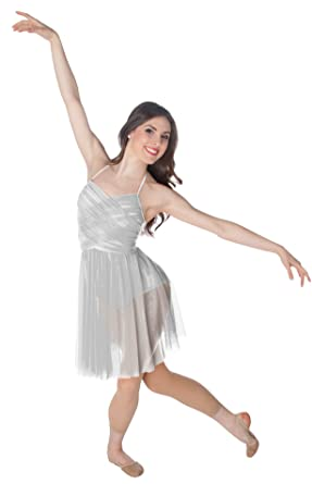 ac6b62062c1 Amazon.com  Body Wrappers Halter Cross-Over Front Dance Dress  Clothing