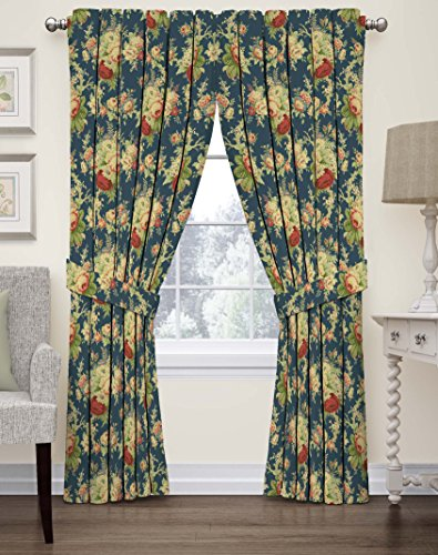 Waverly 15398052084HER Floral Window Curtain, 52