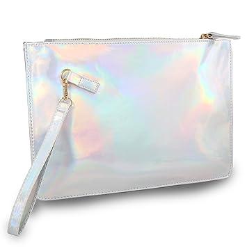 ea5c8aa012 Holographic pouch Laser Cosmetic Bag Makeup Bag - UNIQUE2U Fashion Women s  Holographic Leather Bag