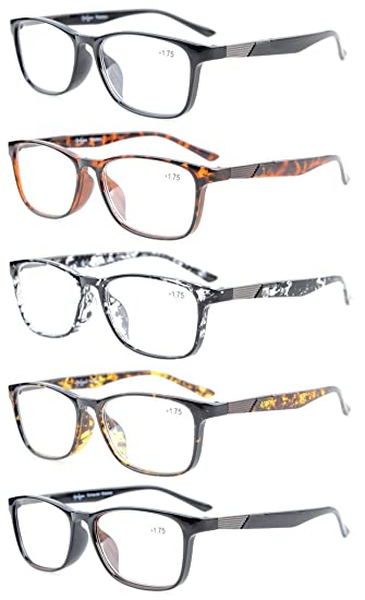 345ba7287bd Image Unavailable. Image not available for. Color  Eyekepper 5-Pack Quality  Readers Crystal Clear Vision Reading Glasses ...