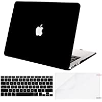 MOSISO MacBook Air 13 Inch Case A1369 & A1466,Plastic Hard Case & Keyboard Cover & Screen Protector Only Compatible with MacBook Air 13 Inch (Older Version 2010-2017 Release), Black
