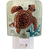 Chesapeake Bay Glass Sea Life Night Light with Swivel Plug 69674 5.5 Inches x 4.25 Inches (Sea Turtle)