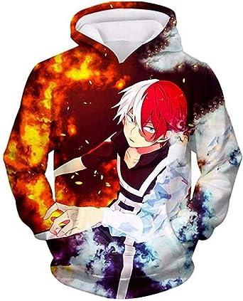 My Hero Academia Shoto Todoroki Hoodie Sweatshirt Cosplay Jacket Pullover Unisex