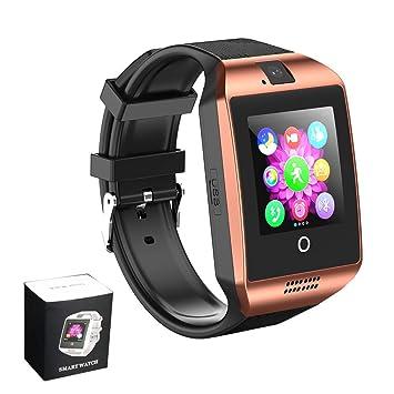 Smart Watches Reloj Inteligente Bluetooth con Cámara SIM TF Ranura Tarjeta Táctil Pantalla Reloj de Pulsera para Android Samsung para Hombre Mujer: ...