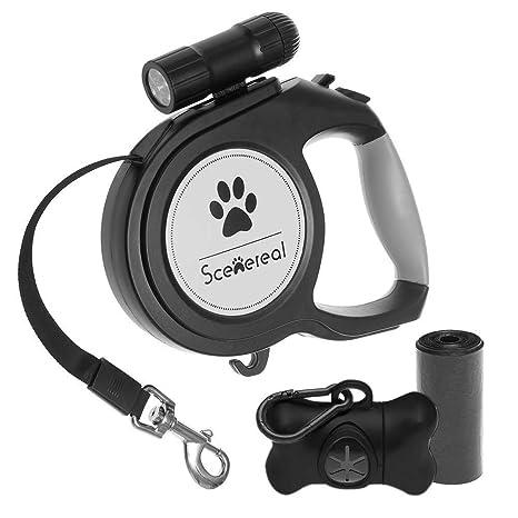 Amazon.com: SCENEREAL Correa retráctil para perro – 26 pies ...