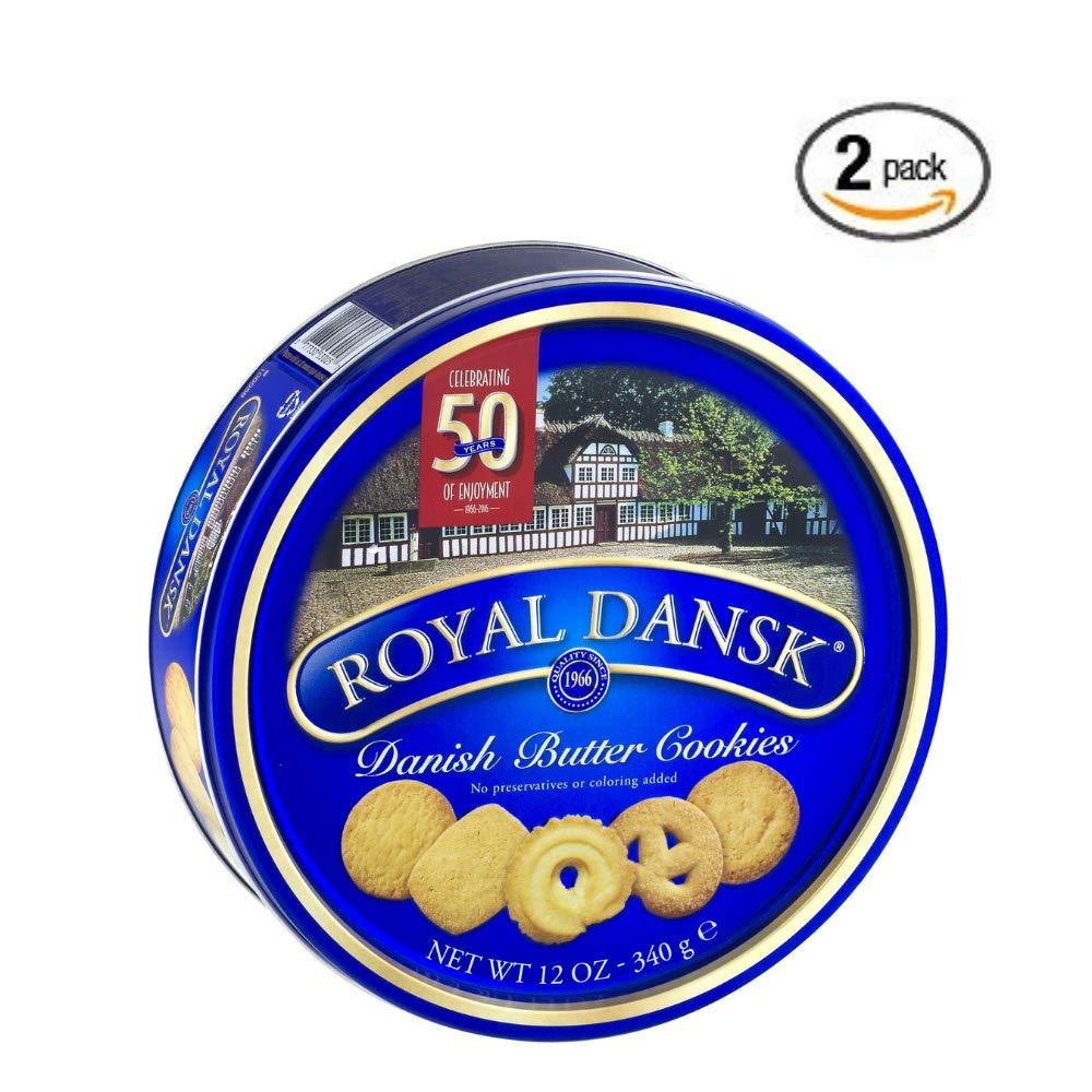 Royal Dansk Cookies, Danish Butter, 12 Oz - 2 pack
