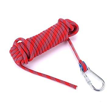 Kletterseil 12mm Klettern Seil Sicherheitsseil mit Karabinerhaken 10m//20m SUPER