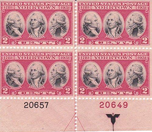 2c Yorktown Plate Block - Scott 703 - Collectible Postage Stamps - ()