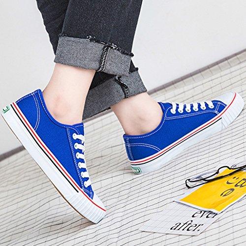 Size stile studenti scarpe Blue femminile 38 basse Espadrillas coreano stile Color uomo Scarpe YaNanHome Pink ginnastica di Harajuku scarpe Scarpe da da moda di selvaggia tela A7q6Fgw