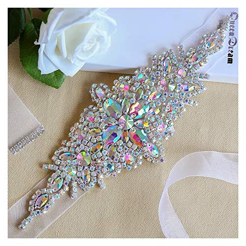 Beaded sash Belt Rhinestone Crystal Beaded Bridal Ribbon Exquisite AB Jeweled Bridesmaid Gown Women Formal Dress Ribbon - Bridal Dress Sash