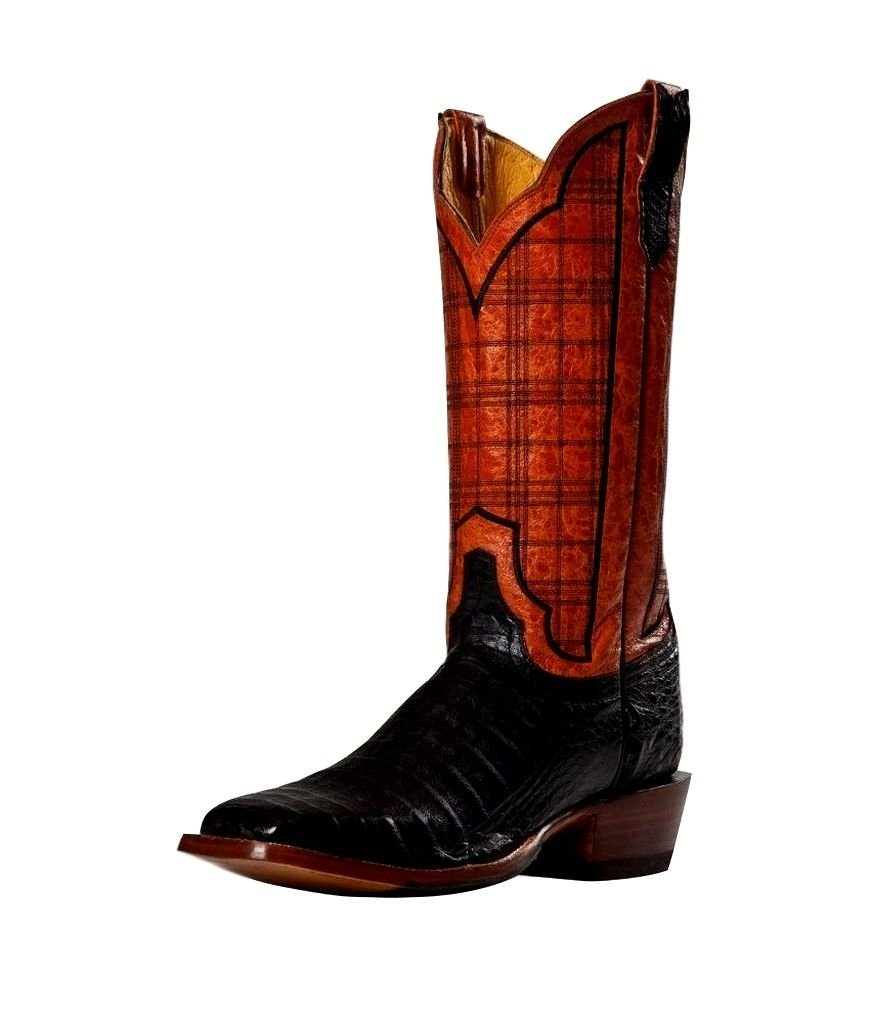 Cinch Women's Caiman Stained Glass Embroidered Cowgirl Boot Square Toe Black 7 M US