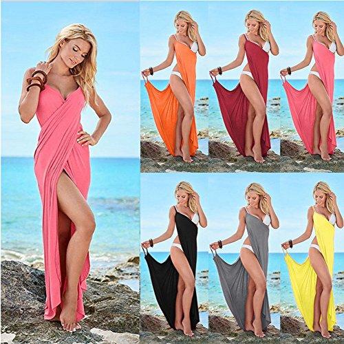 Maxi Lungo Amore A Sexy Grigia Delle Sposa Involucro Scollo V Bikini Del Profondo Spiaggia Donne Dalla Backless Iw6wqH