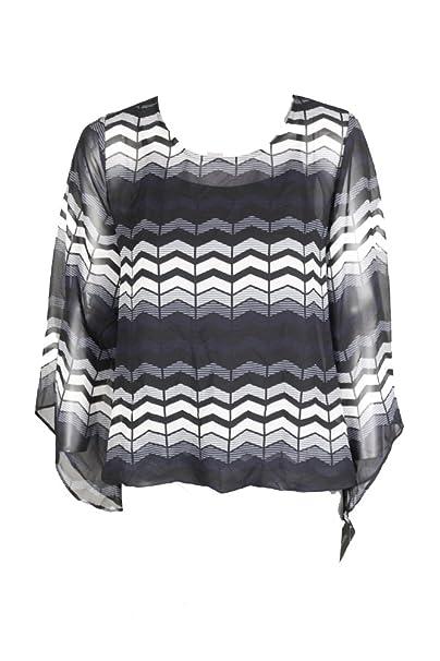 1698dd510155b Alfani Petite Printed Blouson Top at Amazon Women s Clothing store