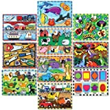Melissa & Doug Fresh Start Wood Chunky Puzzles Set C, 9 x 12 in, Set of 10