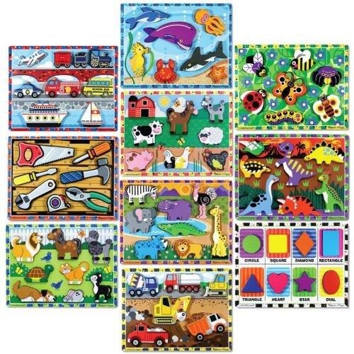 Melissa & Doug Chunky Puzzles, Set of 10 by Melissa & Doug