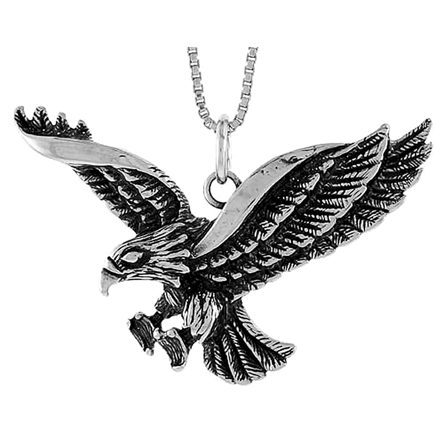 Sterling Silver Eagle Pendant inch Image 1