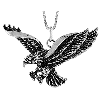 Amazon sterling silver eagle pendant 1 12 x 34 inch jewelry sterling silver eagle pendant 1 12 x 34 inch aloadofball Choice Image