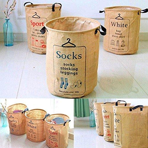 PIXNOR Biancheria tondo Storage portabiancheria scatola di immagazzinaggio Ceste per la biancheria Casa e cucina