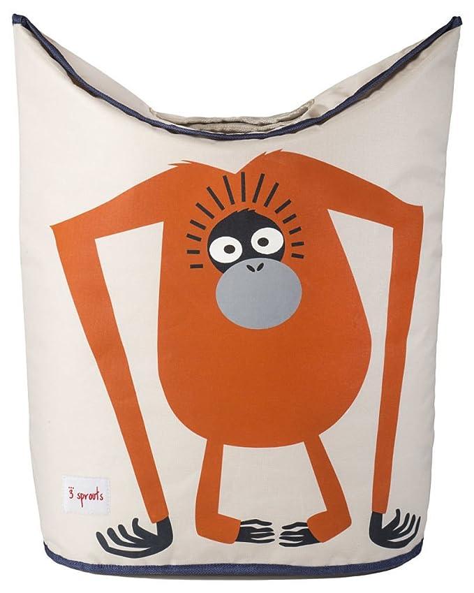Cesta para la colada de 3 brotes multicolor Orangutan