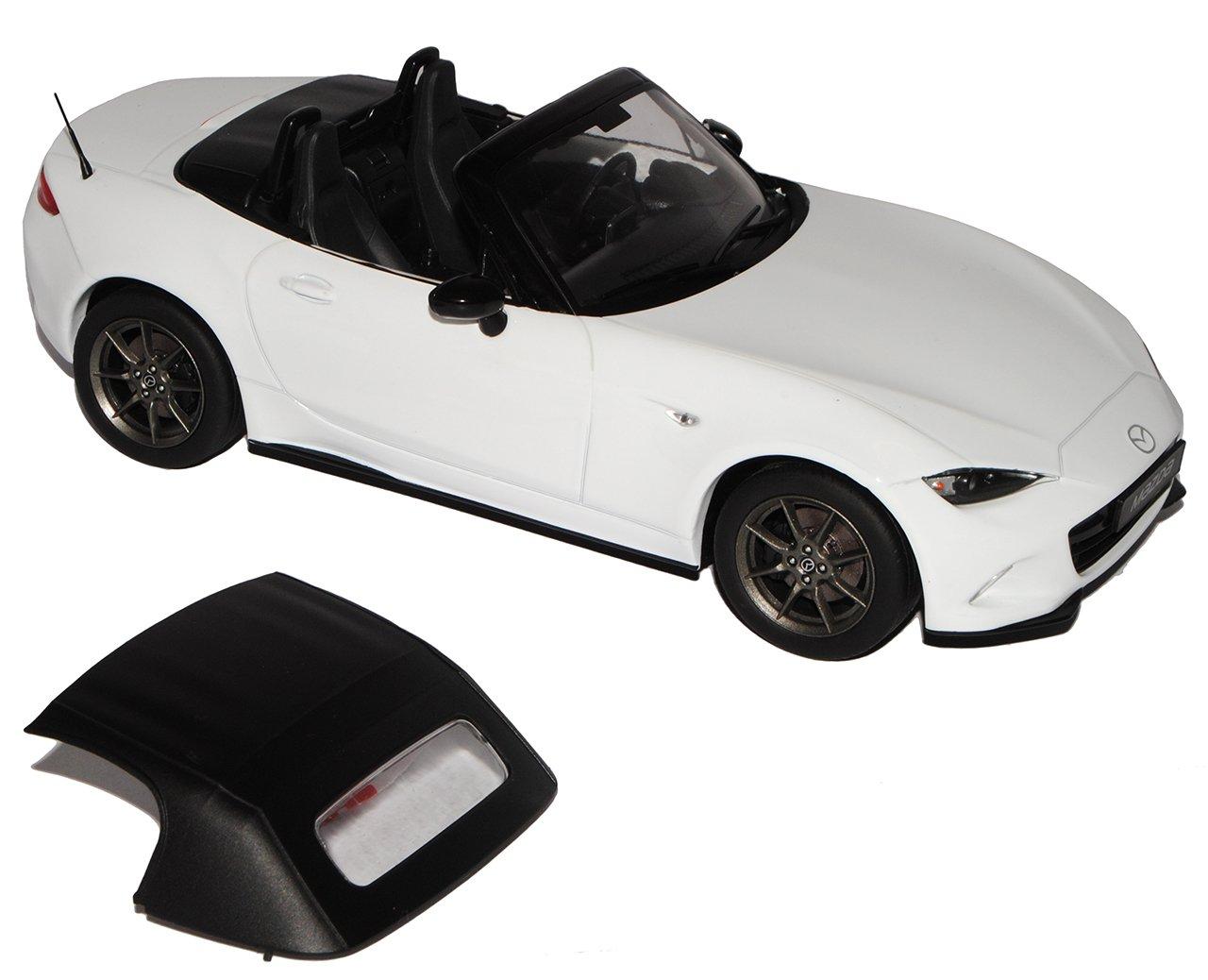 PremiumX Mazda MX5 Weiss ND Cabrio Weiss MX5 mit abnehmbarem Soft Top Graue Felgen Ab 2015 Limitiert 1 von 600 Triple 9 1 18 Modell Auto mit individiuellem Wunschkennzeichen 8df6be