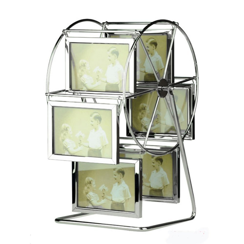 Leecum Ferris Wheel Photo Frame Style Can Rotated Personalized Album Picture Frames Home Decoration