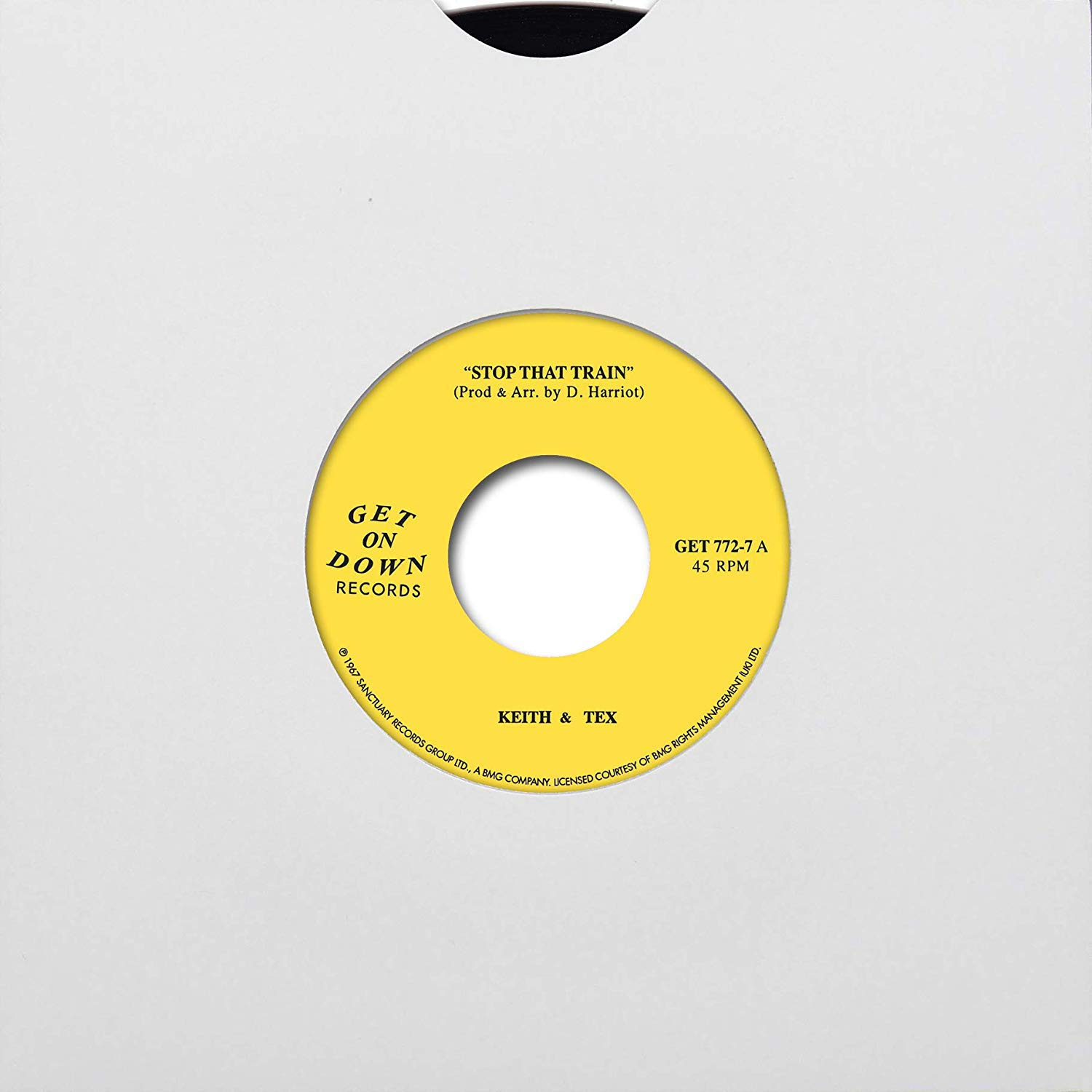 Vinilo : Keith & Tex - Stop That Train /  Leaving On That Train (7 Inch Single)