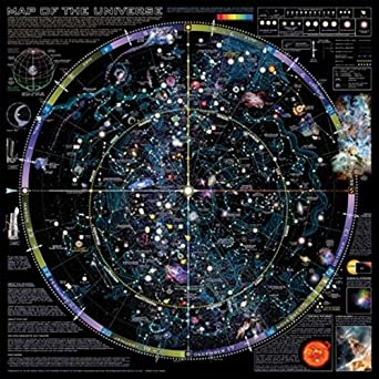 """36"""" x 36"""" Map of the Universe Poster"""