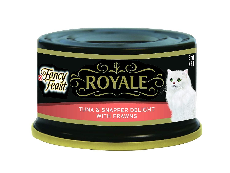 Fancy Feast Royale Tuna & Snapper With Prawns, 24X85g