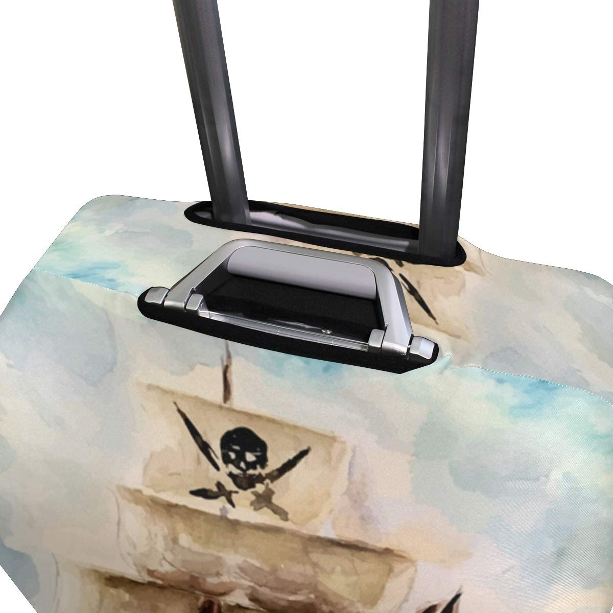 Blue Viper Vintage Watercolor Pirate Luggage Protective Cover Suitcase Protector Fits 29-32 Inch Luggage