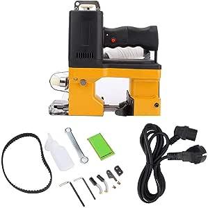 HEEPDD Máquina de Cierre de Bolsas, máquina de Coser Bolsas eléctricas Herramienta de Embalaje de Costura de Sello portátil de Metal para Saco de Bolsa de Piel de Serpiente Tejida(Enchufe de la