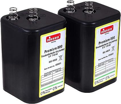 4r25 6v Blockbatterie Ersatz Für Nissen Elektronik