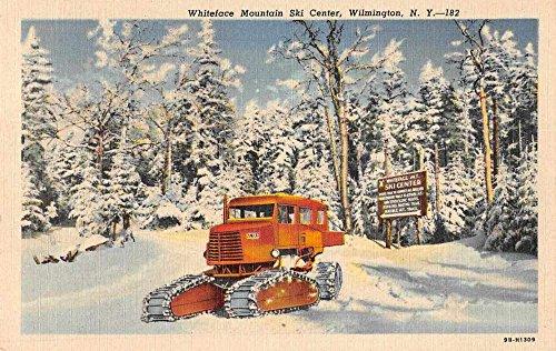 Wilmington New York scenic view Whiteface Mtn Ski Ctr linen antique pc (Ctrs Antique)