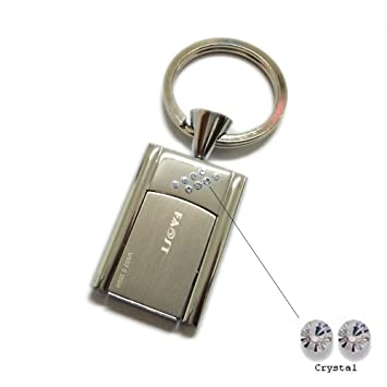 4fd6faf22d3c Faost Design 32GB Swarovski Crystal DM329132 Key Holder Silver Metal Case  Handmade Freedom Flip USB2.