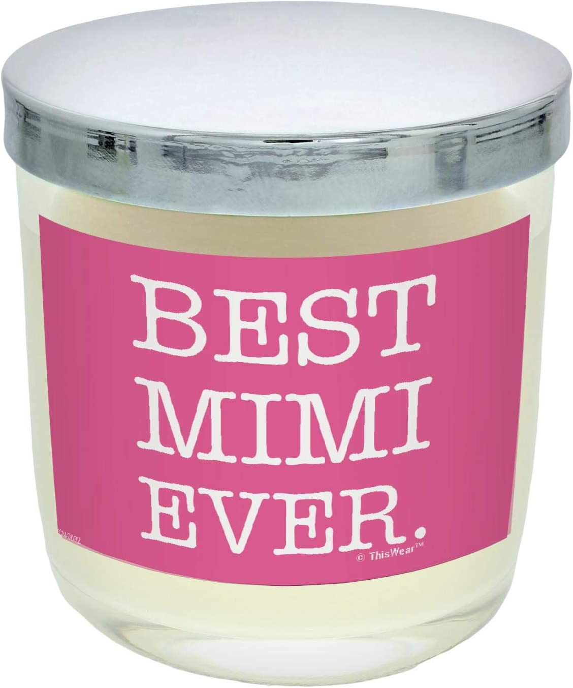 ThisWear Holiday Kitchen Decor Best Mimi Ever Pink Scented Candle Jar Vanilla