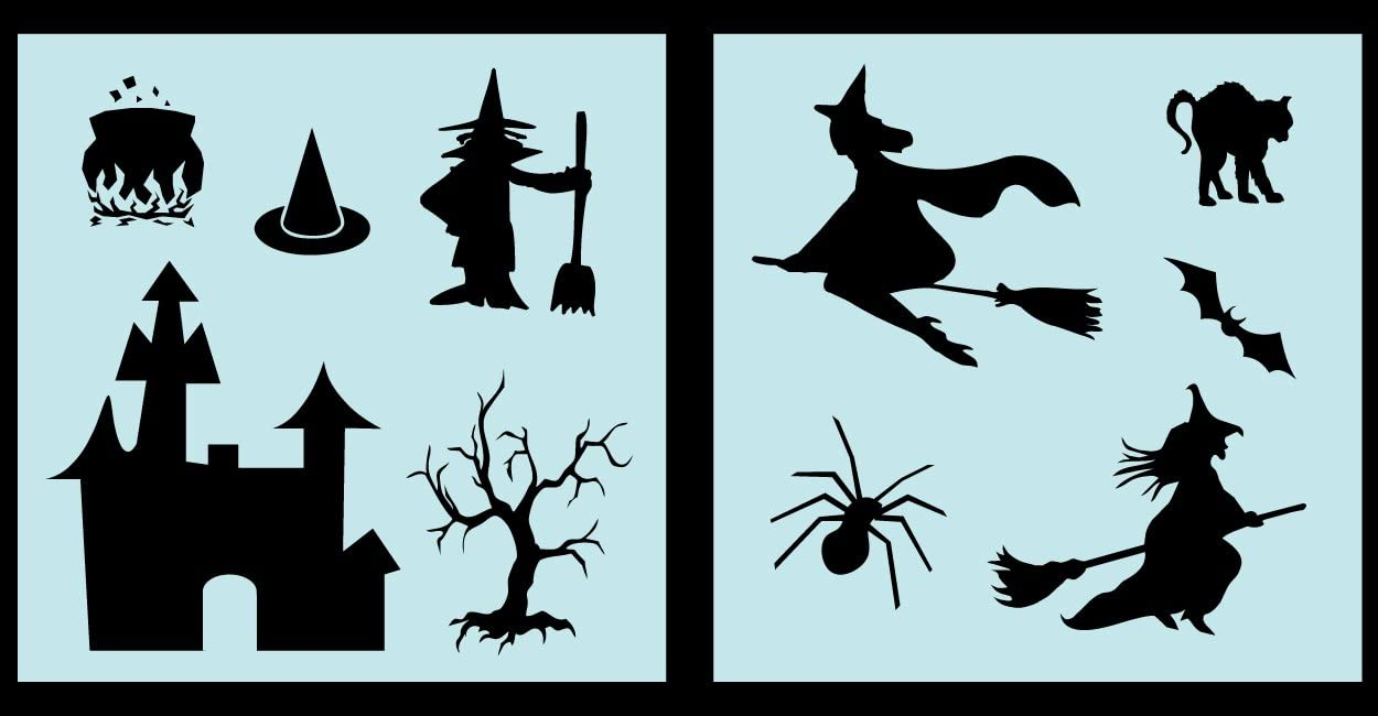 Amazon Com Auto Vynamics Stencil Witchset01 10 Detailed