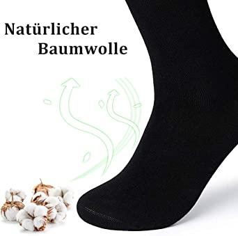 TUUHAW Calcetines Hombre Mujer 10 Pares Calcetines de Negros Algod/ón Transpirables