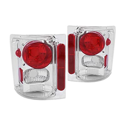 Anzo USA 211014 Chevrolet Chrome Tail Light Assembly - (Sold in Pairs): Automotive