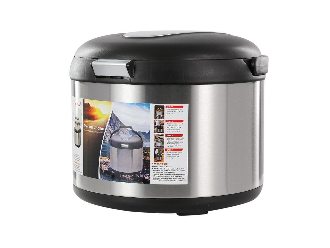 Tayama TXM-50CF Energy-Saving Thermal Cooker, 5 L, Black by TAYAMA