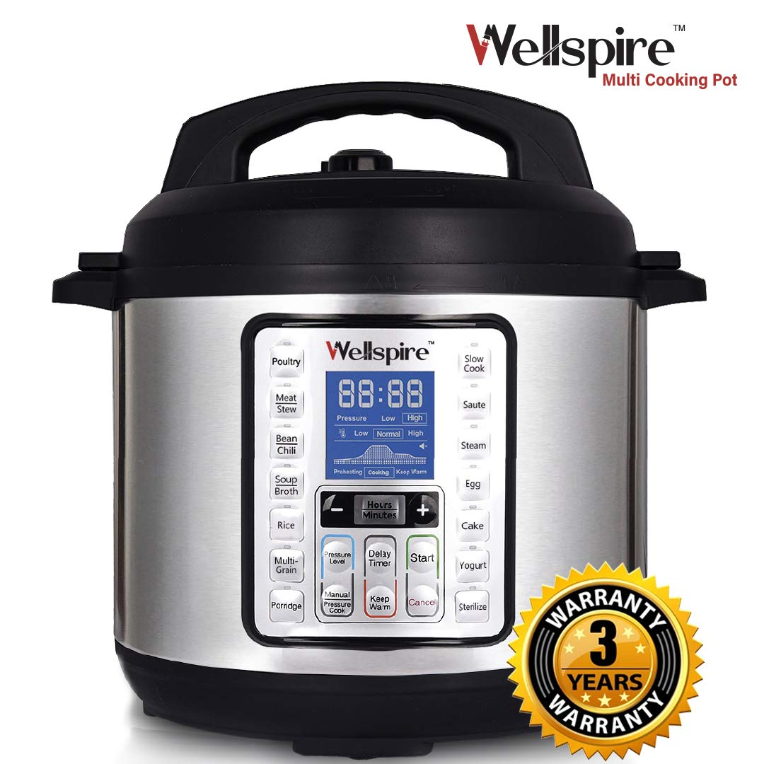 Wellspire Multi Cooking Pot Smart Electric Pressure Cooker