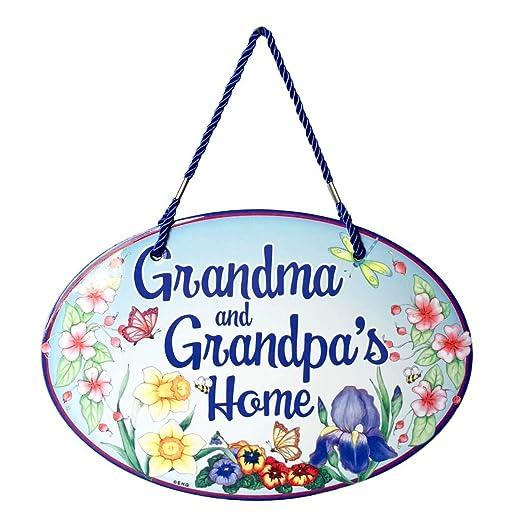 Bienvenido a la abuela y el abuelo de cartel decorativo para ...