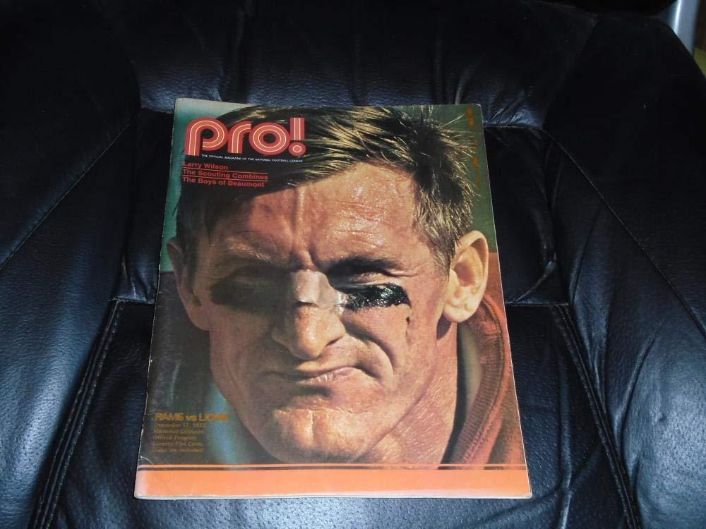 1972 DETROIT LIONS AT LOS ANGELES RAMS NFL FOOTBALL PROGRAM LARRY WILSON COVER