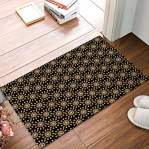 Rubber Doormat Outdoor Door Mats Rubber Shoes Scraper for Front Door Entrance Outside Doormat Arabian Ornament Design by BMALL