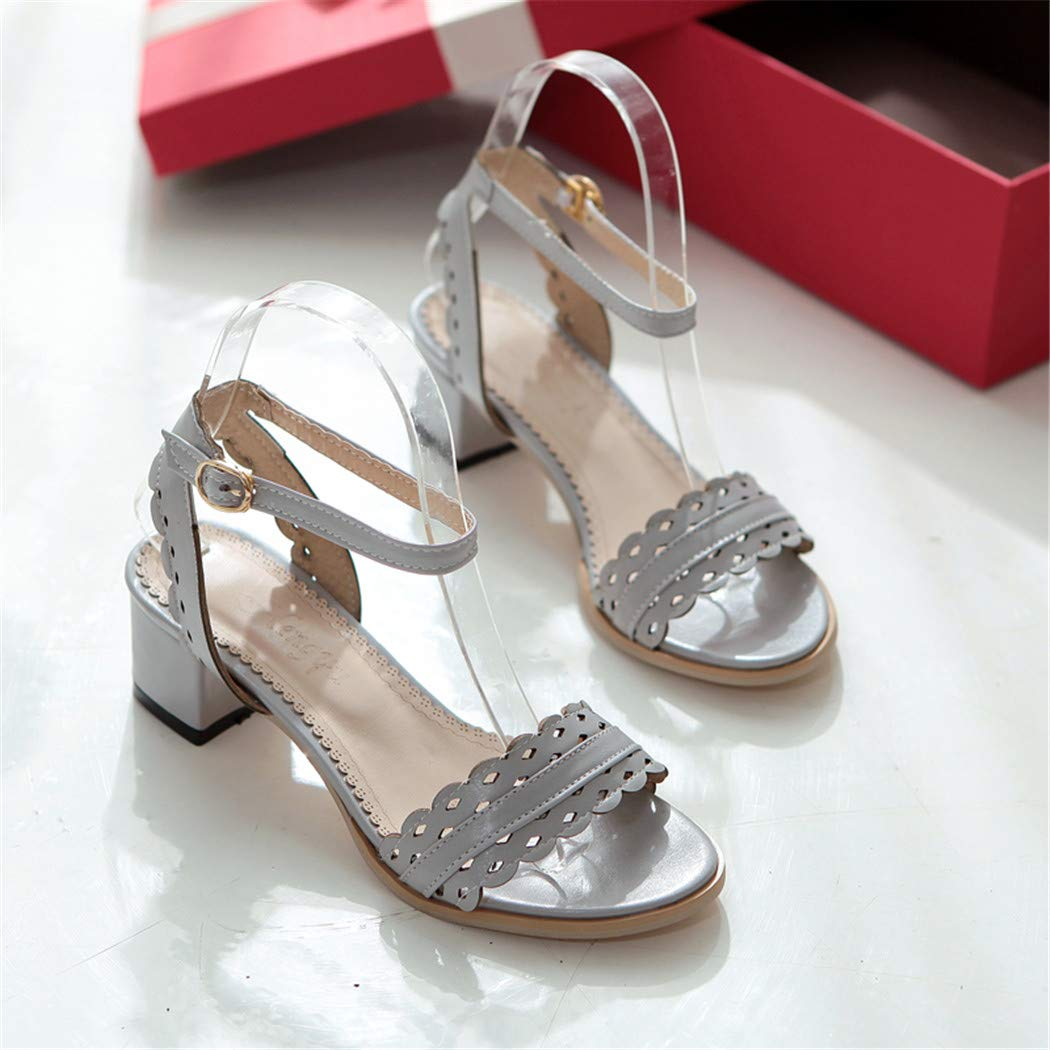 Ankle Strap Summer Sandal Women Fashion Square Heels Female Footwear
